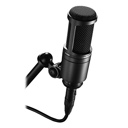 Best Noise-Canceling Microphones Audio-Technica AT2020 Cardioid Condenser Studio XLR Microphone, Black, Ideal for Project/Home Studio...