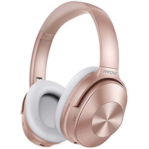 Mpow H12 Noise Cancelling Headphones Bluetooth, Wireless/Wired Headphones Over Ear with Microphone, Hi-Fi Deep...