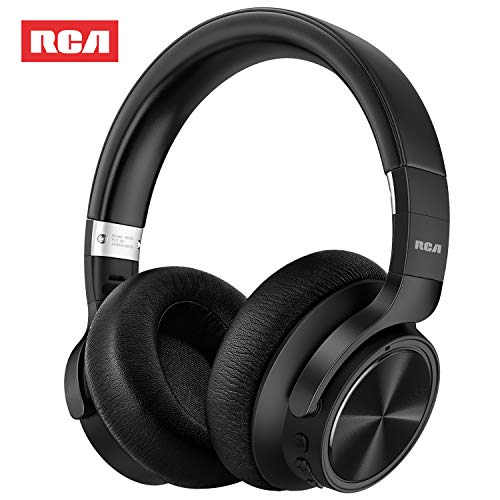 RCA [Upgraded] Active Noise Cancelling Headphones, Over Ear Wireless Bluetooth Headset with CVC 6.0...