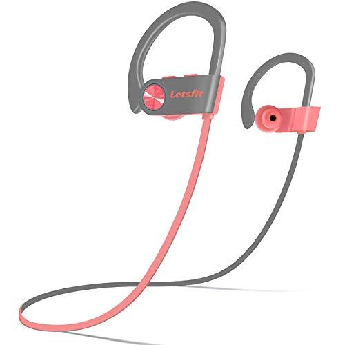 Bluetooth Headphones, Letsfit Wireless Headphones, IPX7 Waterproof Sports Earphones Gym Running, HD Stereo...