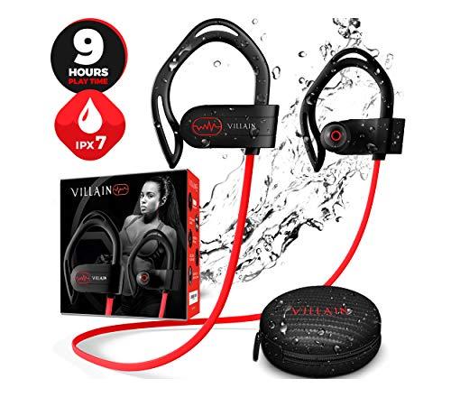 Villain Bluetooth 5.0 Wireless Earbuds - aptX HiFi Sound & Clear Thumping Bass - Best Headphones for Sport,...