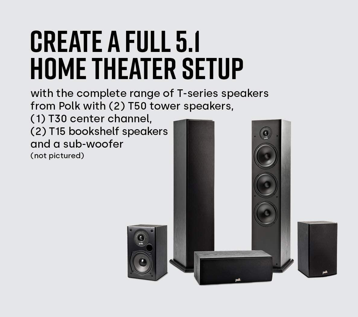 Polk Audio T50 Home Theater - Music Floor Standing Tower Speaker