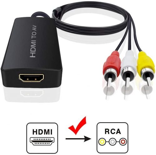 Best HDMI to RCA Converters Adapters in 2020 Dingsun HDMI to Audio Video Converter, HDMI to RCA Converter Compatible HDMI to Older TV Adapter