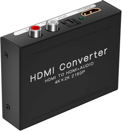 Best HDMI to RCA Converters Adapters in 2020 TAKIESO 4K HDMI to HDMI + Audio Extractor One HDMI Input to HDMI + Audio (SPDIF + RCA Stereo) Output