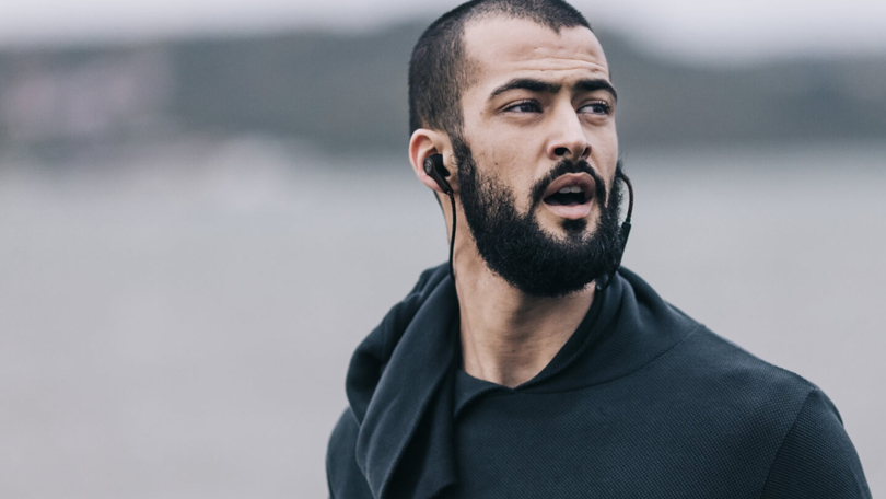 Man Wearing Earphones