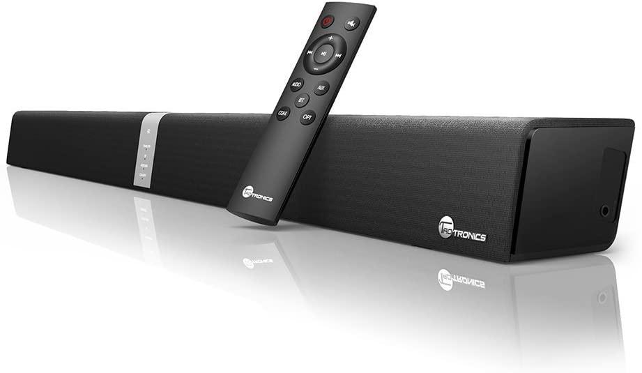 Soundbar, TaoTronics Sound Bar Wired Wireless Bluetooth Audio (34-inch Speaker, 2 Passive Radiators, Dual Connection Methods
