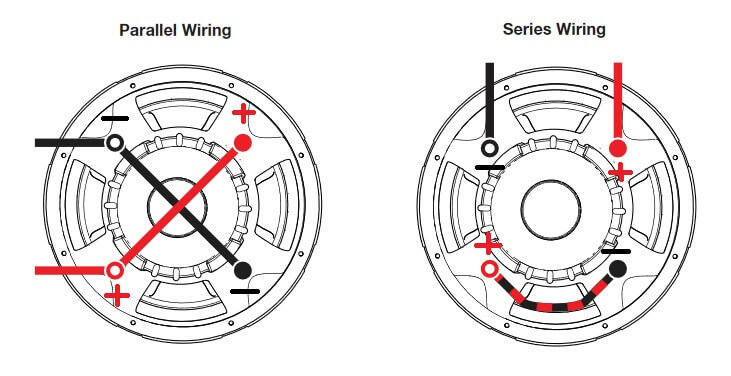 Parallel and series subwoofer wiring