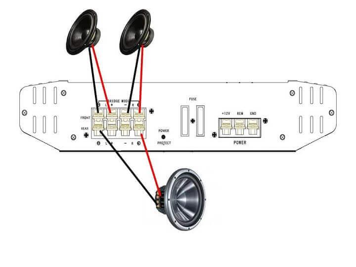 bridging a 4 channel amp