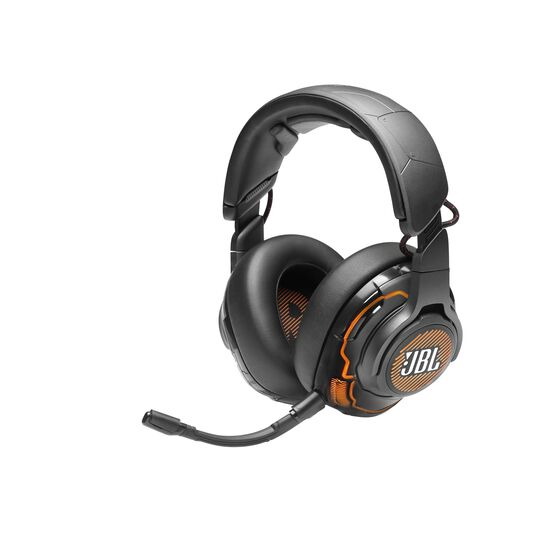 JBL Quantum ONE - Black - USB Wired Over-Ear Professional PC Gaming Headset with Head-Tracking Enhanced QuantumSPHERE 360 - Hero